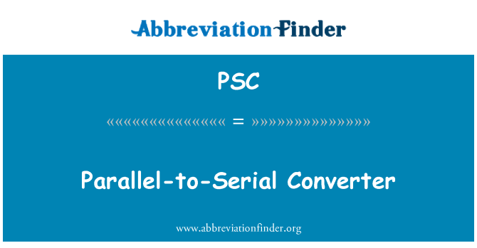 PSC: Parallel-to-Serial Converter