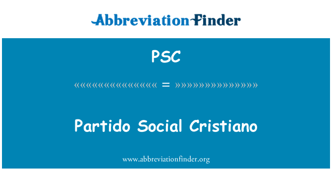 PSC: Partido Social Cristiano