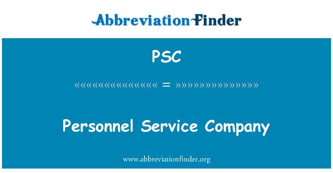 PSC: Personel servis şirketi