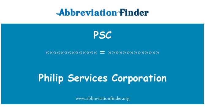 PSC: Philip Services Corporation