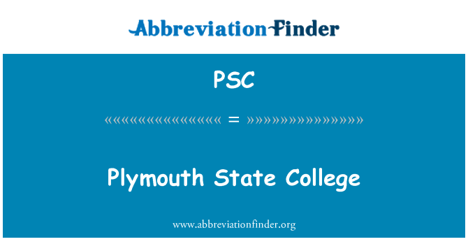 PSC: Plymouth State College