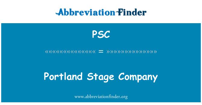 PSC: Portland Stage Company