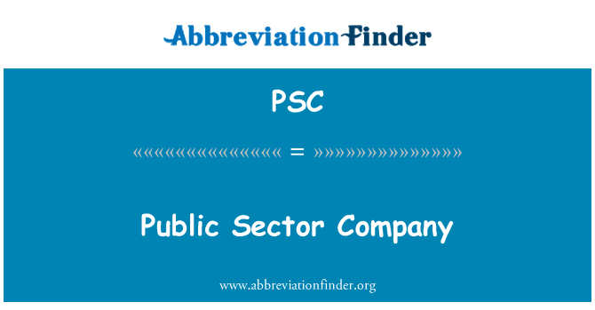 PSC: Public Sector Company