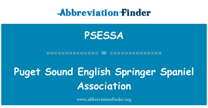 PSESSA: Puget Sound English Springer Spaniel Association