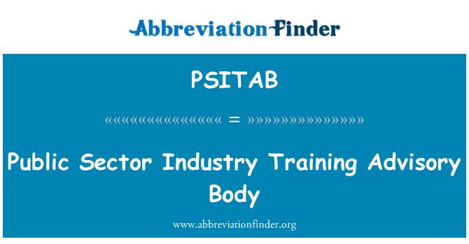 PSITAB: Public Sector Industry Training Advisory Body