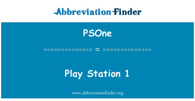 PSOne: Play Station 1