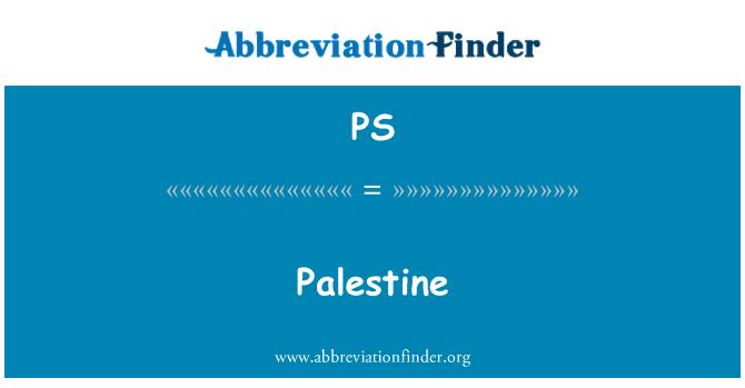 PS: Palestine