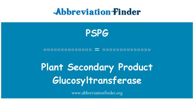 PSPG: Glucosiltransferasa producto secundario de la planta