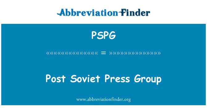 PSPG: Post Soviet Press Group