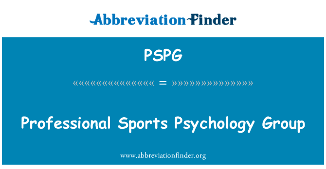 PSPG: Professional Sports Psychology Group