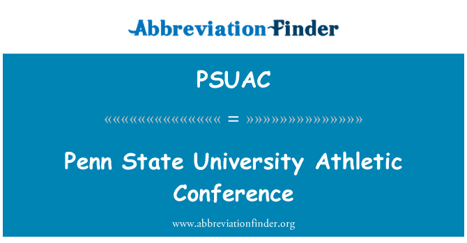 PSUAC: Penn State University Athletic Conference