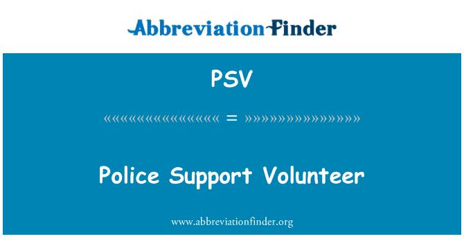 PSV: Police Support Volunteer