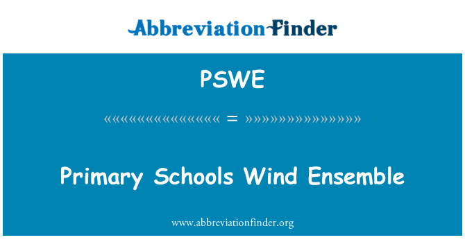 PSWE: Primary Schools Wind Ensemble