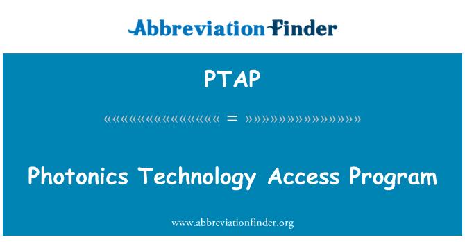 PTAP: Programa de acceso a la tecnología fotónica