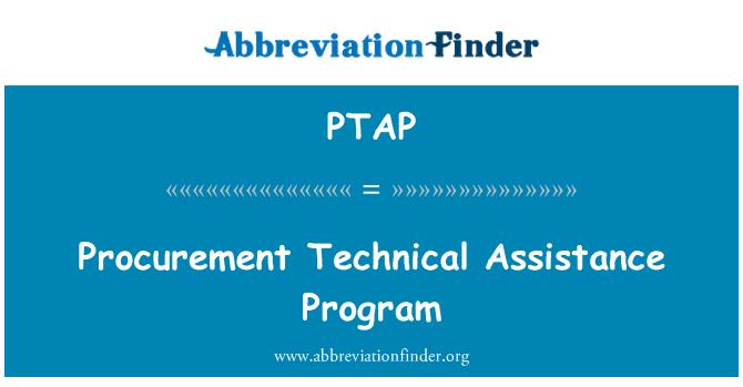 PTAP: Programa de asistencia técnica de adquisiciones