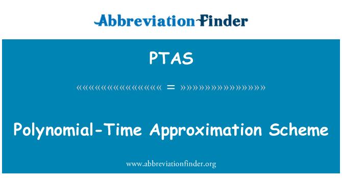 PTAS: Esquema de aproximación de tiempo polinomial