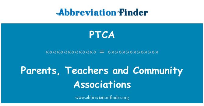 PTCA: Padres, profesores y asociaciones de la comunidad