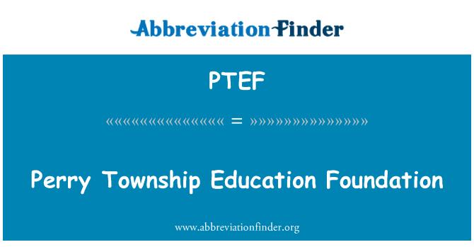PTEF: Fundación de Educación de Perry Township