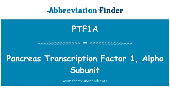 PTF1A: Pancreas Transcription Factor 1, Alpha Subunit