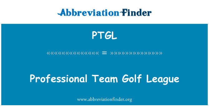 PTGL: Professional Team Golf League