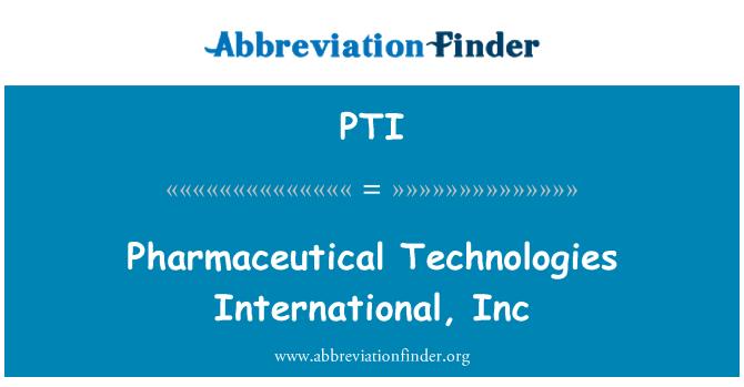 PTI: Farmaċewtiċi teknoloġiji internazzjonali, Inc