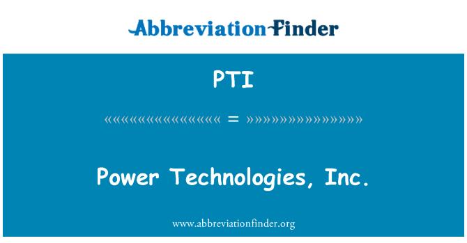 PTI: パワー テクノロジー株式会社