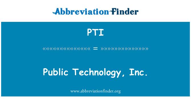 PTI: Publicznego technologia, Inc.