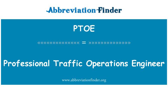 PTOE: Ingeniero de operaciones de tráfico profesional