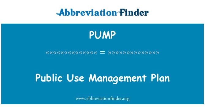 PUMP: Plan de gestión de uso público