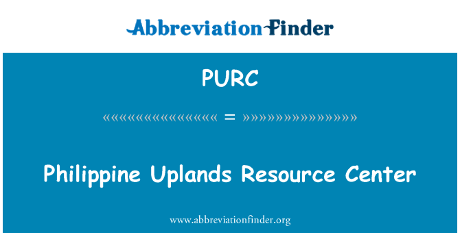 PURC: Filipinų aukštumos Resource Center