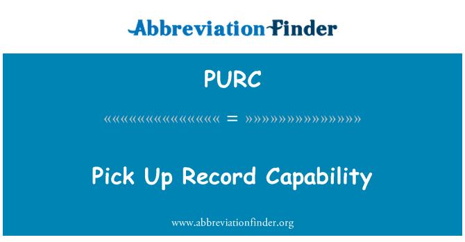 PURC: Mengambil catatan kemampuan