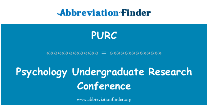 PURC: Sikoloji Premier rechèch konferans