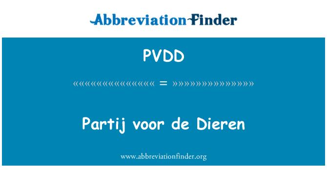PVDD: Partij voor de Dieren