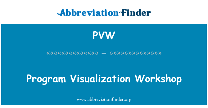 PVW: Program Visualization Workshop