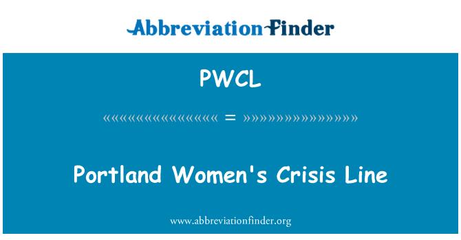 PWCL: Portland Women's Crisis Line