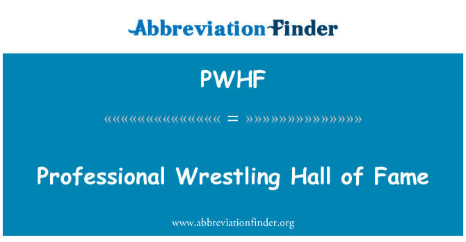 PWHF: Professional Wrestling Hall of Fame