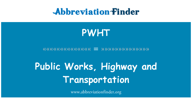 PWHT: Maanteel ja transpordi ministeeriumis