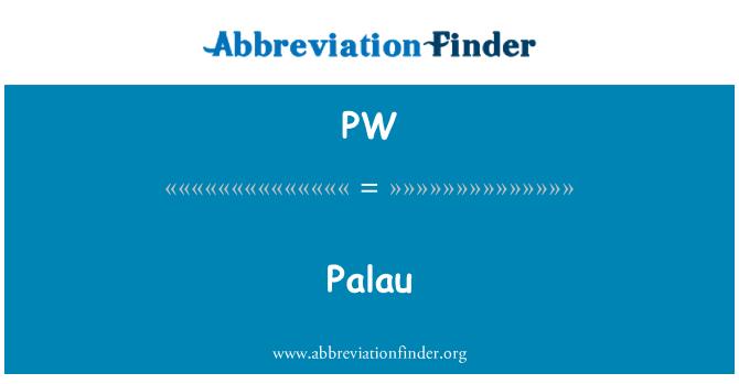 PW: Palau