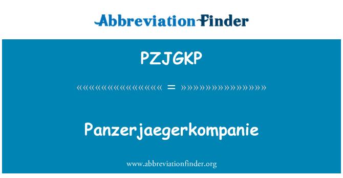 PZJGKP: Panzerjaegerkompanie