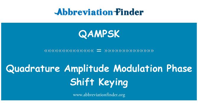 QAMPSK: Quadrature Amplitude Modulation Phase Shift Keying