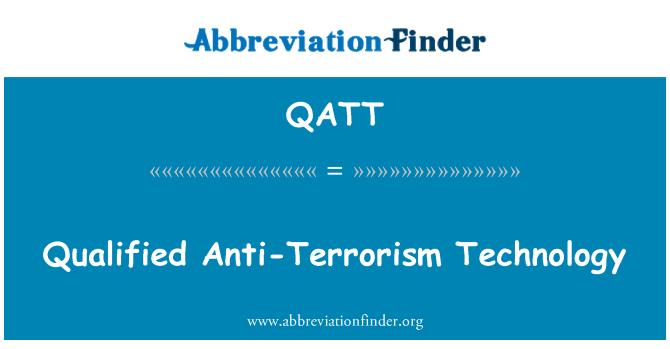 QATT: Anti-terör teknolojisi nitelikli