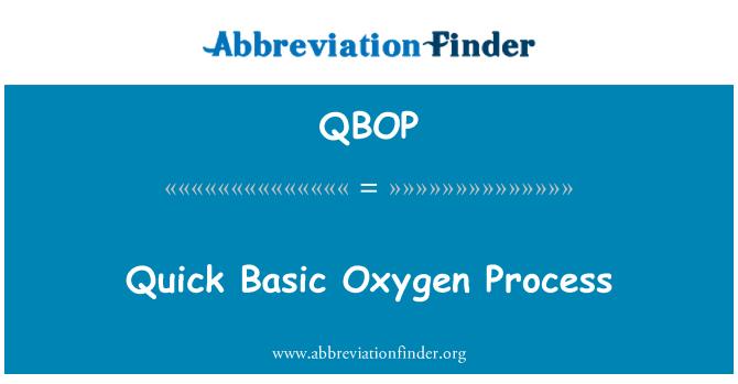 QBOP: Quick Basic Oxygen Process
