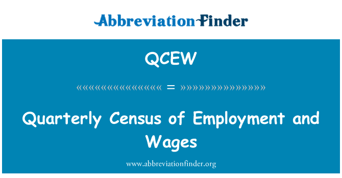 QCEW: Quarterly Census of Employment and Wages