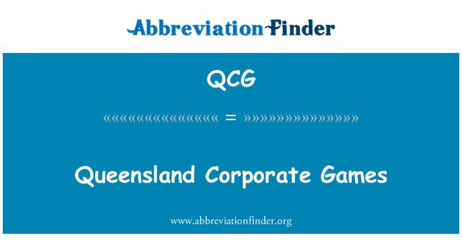 QCG: 昆士兰州工商机构运动会