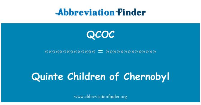 QCOC: Quinte Children of Chernobyl