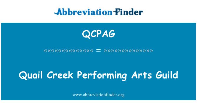 QCPAG: Quail Creek Performing Arts Guild