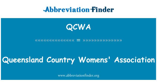 QCWA: Queensland país Womens' Association