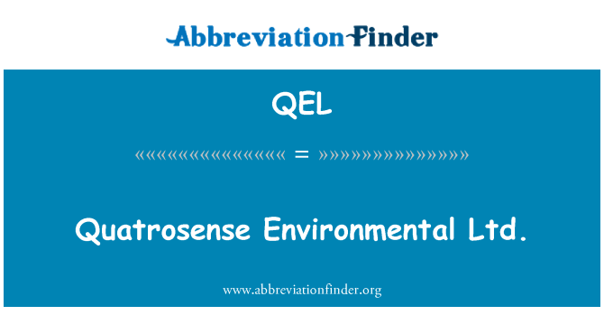 QEL: Quatrosense keskkonna OÜ