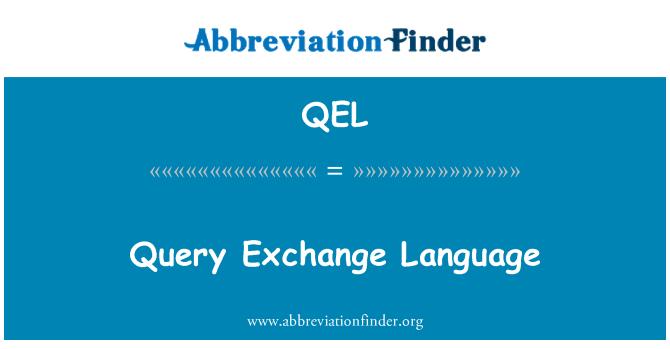 QEL: Sorgu Exchange dili