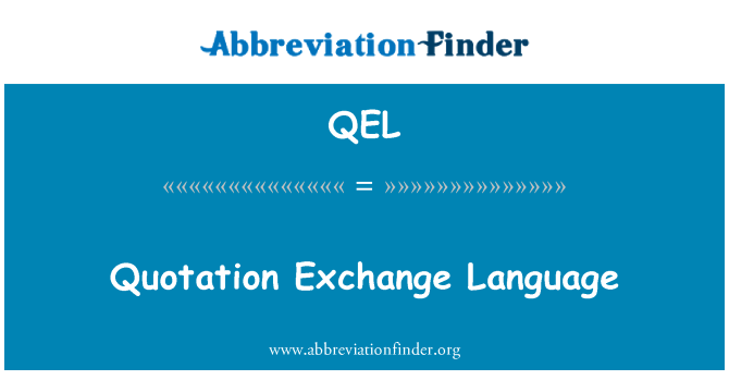 QEL: Tırnak Exchange dil